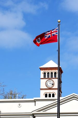 British flag blowing in the wind Stock Photo - 601758