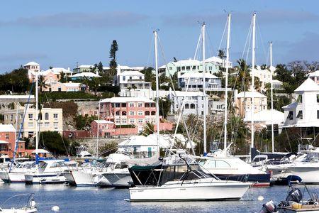 Boats in a bay 版權商用圖片