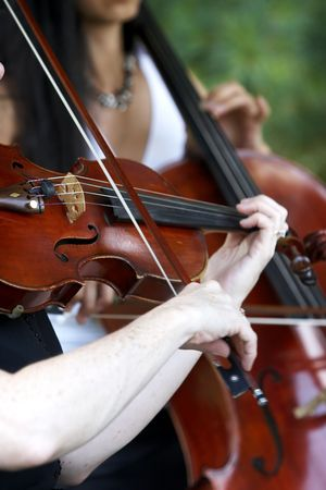 strings: classical music played during a wedding, live performance