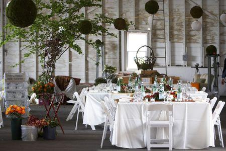 tabel waarin voor een bruiloft of diner evenement