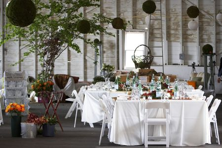 table setting for a wedding or dinner event Standard-Bild