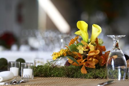 table setting for a wedding or dinner event photo