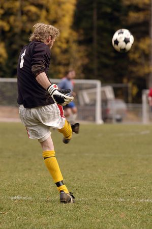 soccerball: Kicking a soccerball, with a blur in the ball showing motion