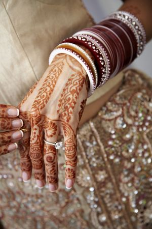 Details from a hindu wedding Stock Photo