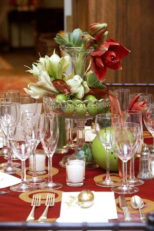 fancy table set during a wedding event