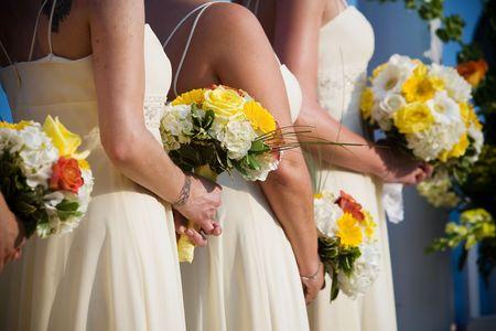 bridesmaid: Bridal wedding flowers and brides bouquet Stock Photo