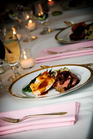 food at a wedding or catering event Stock Photo