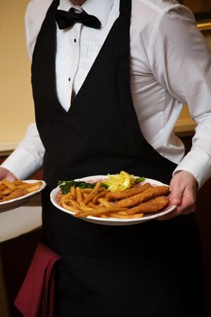 catered: Wedding food during a catered social event