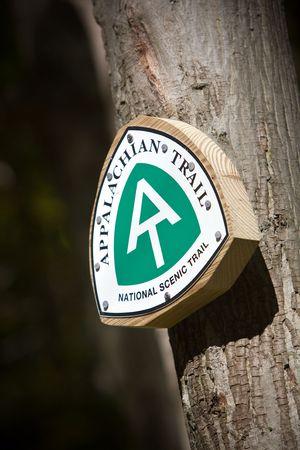 national scenic trail: Appalachian trail sign taken in Western Massachusetts