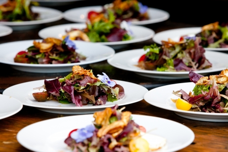 Hochzeit Vorbereitung und Food-Service Standard-Bild