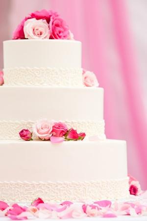 pink cake: Wedding cake