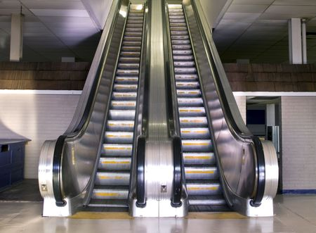old retro style escalator