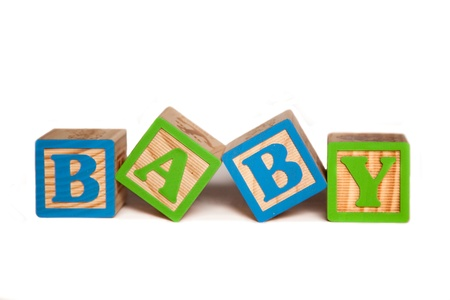 block letters: Baby Blocks Stock Photo