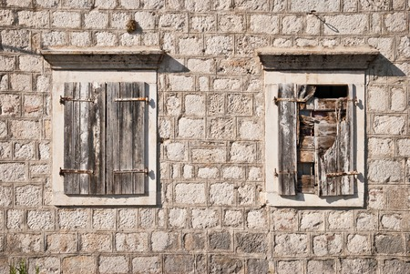 kotor: Old windows in Kotor, Montenegro