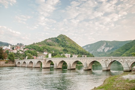 visegrad: An old brigde on the Drina in Visegrad, Bosnia and Herzegovina