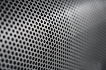 perforated steel tube Stockfoto