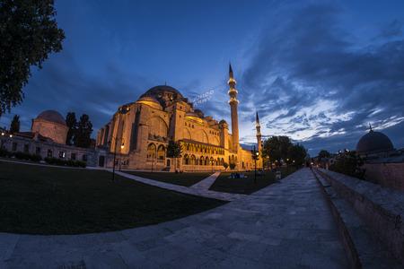 Islamic monument in Istanbul. 版權商用圖片