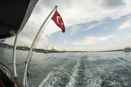 Ferry crossing the Bosphorus. Standard-Bild