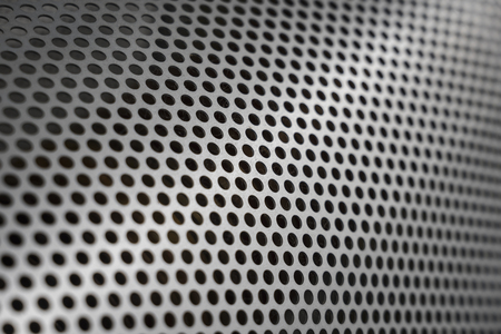 perforated steel metal sheet Stockfoto
