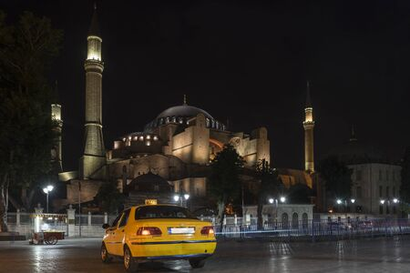Street at night in Istanbul.