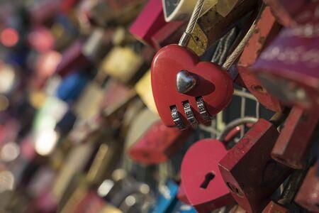 Love padlocks.