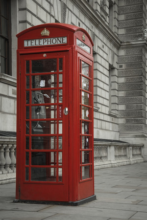 Phonebox in a London street.