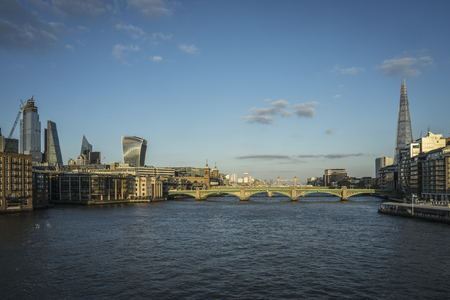 Panorama on the river Thames.