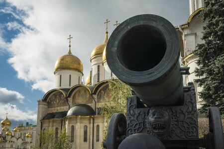 The big Tsar Canon in the Kremlin of Moscow.