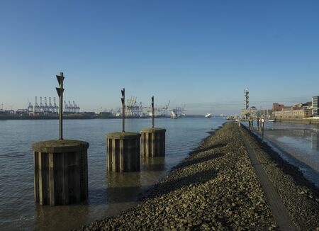 River Elbe in Hamburg.