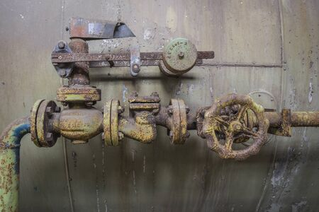 Weathered installation in an industrial site.
