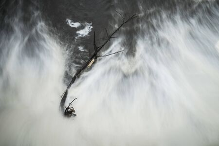 Abstract view of flowing water.