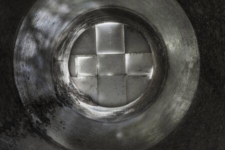 Interior of an old grain silo