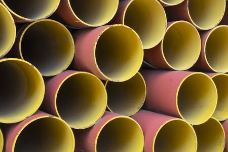 Colorful steel pipes