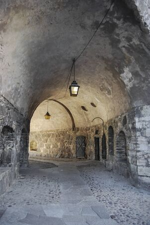 Medieval underpass Stock Photo