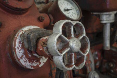 Valve of an old fire engine Reklamní fotografie