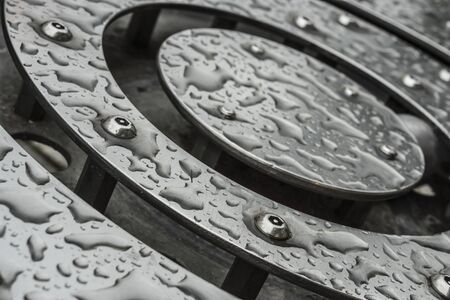 Stainless steel surface with water Reklamní fotografie