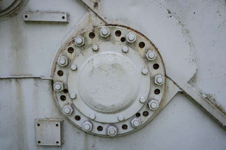 bearing flange of an old gearbox Archivio Fotografico