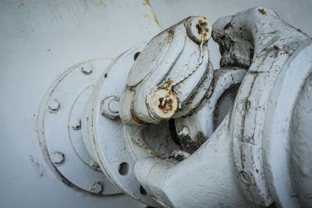 cardan shaft detail of an old machine