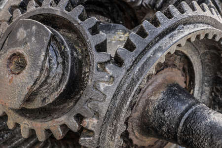 Detail of a historic gearbox. Stockfoto