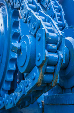 chain gearing on an old agricultural machine