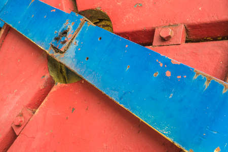 Abstract detail of a historic street roller. Archivio Fotografico