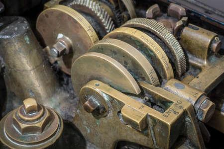 gear unit on an historic machine