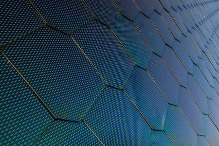 detail of an abstract steel facade