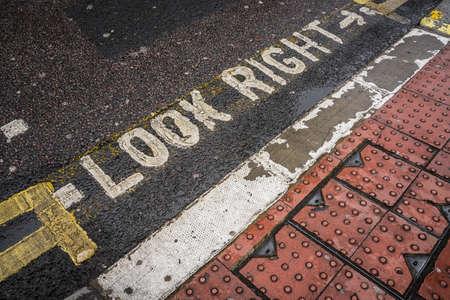 Pedestrian crossing sign in a London street