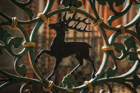 old metal fence in a historic church