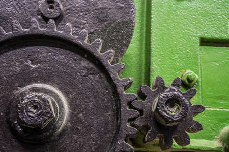 gear unit on an agricultural machine