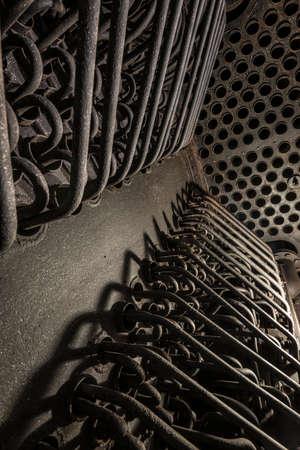 heat exchanger detail of a historic steam kettle Archivio Fotografico
