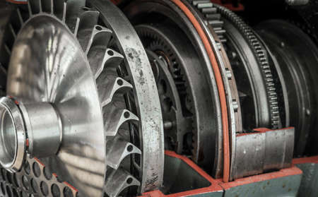 detail of a historic jet engine