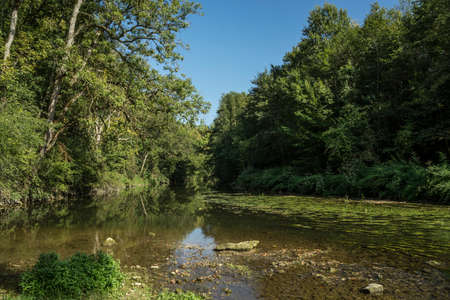 River Jagst near Crailsheim in southern Germany.