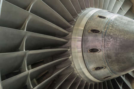 engine fan of an airplane